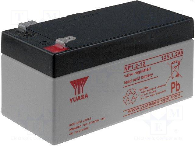 Аккумуляторы кислотные,YUASA,NP1.2-12