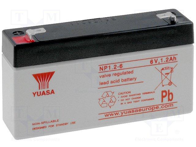 Аккумуляторы кислотные,YUASA,NP1.2-6