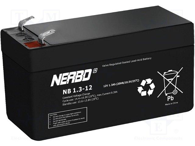 Аккумуляторы кислотные,NERBO,NB1.3-12