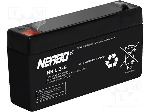Аккумуляторы кислотные,NERBO,NB1.3-6