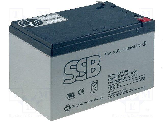 Аккумуляторы кислотные,SSB,SB12-12L