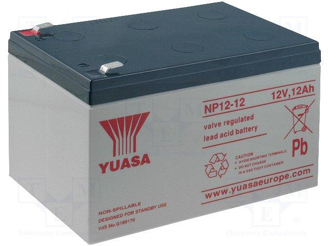 Аккумуляторы кислотные,YUASA,NP12-12