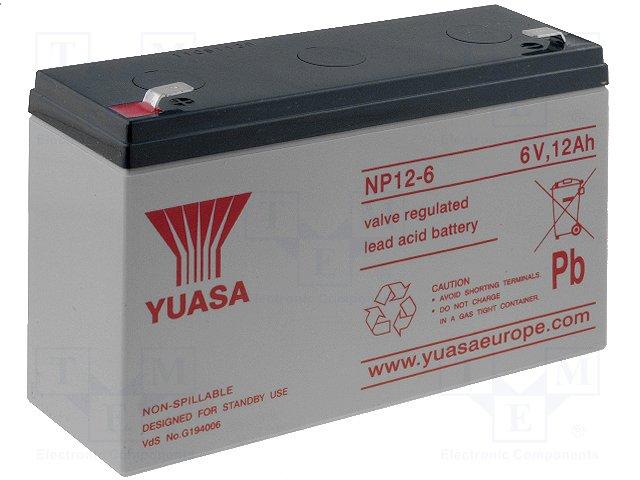 Аккумуляторы кислотные,YUASA,NP12-6