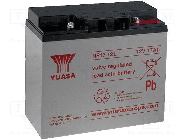 Аккумуляторы кислотные,YUASA,NP17-12I