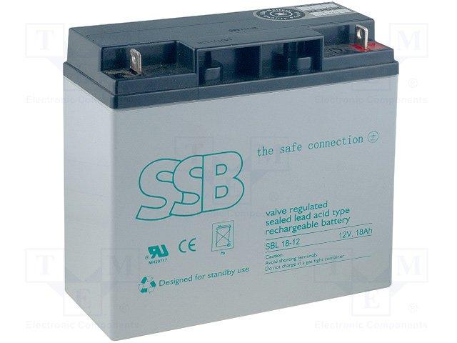 Аккумуляторы кислотные,SSB,SBL 18-12