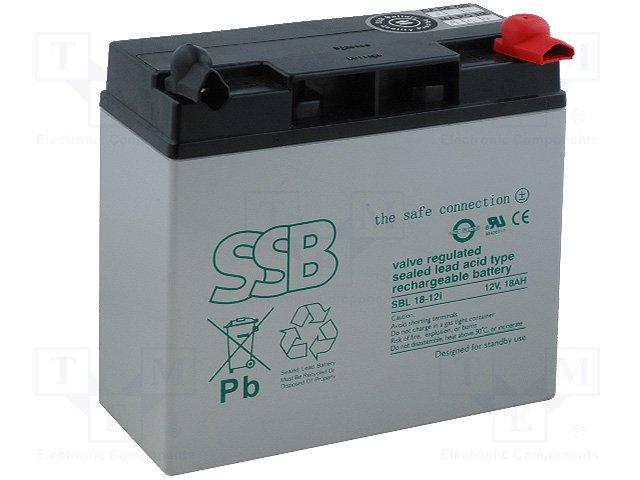 Аккумуляторы кислотные,SSB,SBL 18-12I