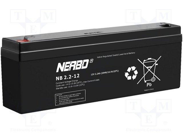Аккумуляторы кислотные,NERBO,NB2.2-12