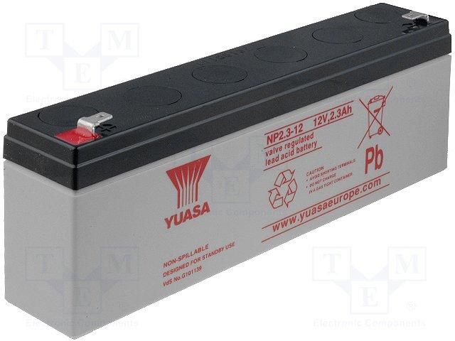 Аккумуляторы кислотные,YUASA,NP2.3-12