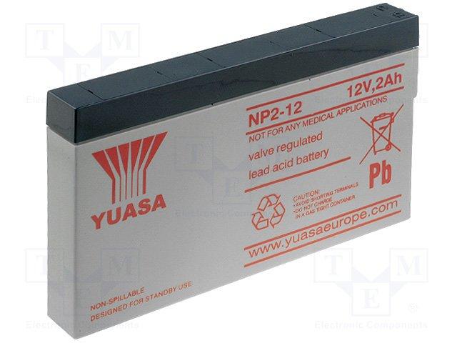 Аккумуляторы кислотные,YUASA,NP2.0-12