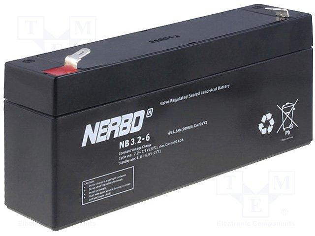 Аккумуляторы кислотные,NERBO,NB3.2-6