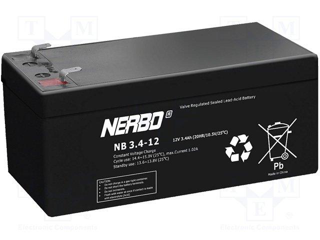 Аккумуляторы кислотные,NERBO,NB3.4-12