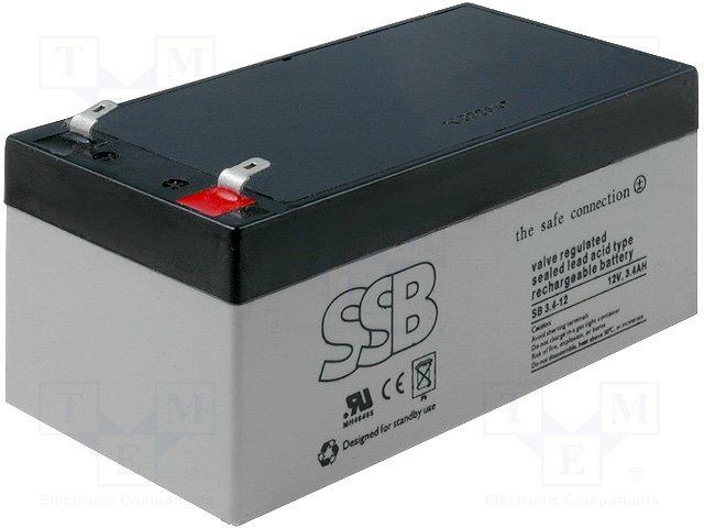 Аккумуляторы кислотные,SSB,SB 3.4-12