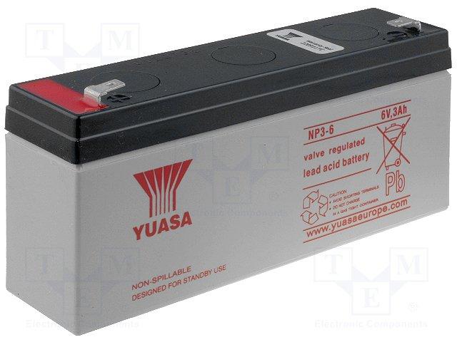 Аккумуляторы кислотные,YUASA,NP3-6