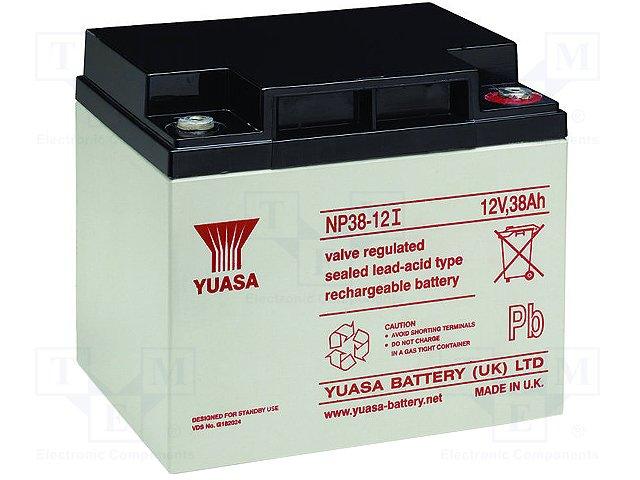 Аккумуляторы кислотные,YUASA,NP38-12I