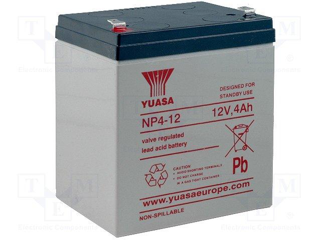 Аккумуляторы кислотные,YUASA,NP4-12
