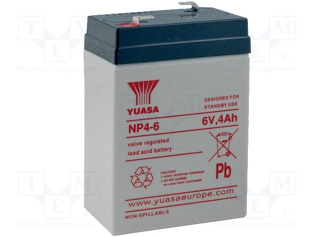 Аккумуляторы кислотные,YUASA,NP4-6