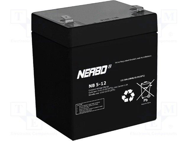 Аккумуляторы кислотные,NERBO,NB5-12