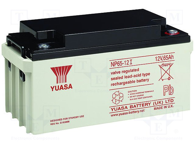 Аккумуляторы кислотные,YUASA,NP65-12I