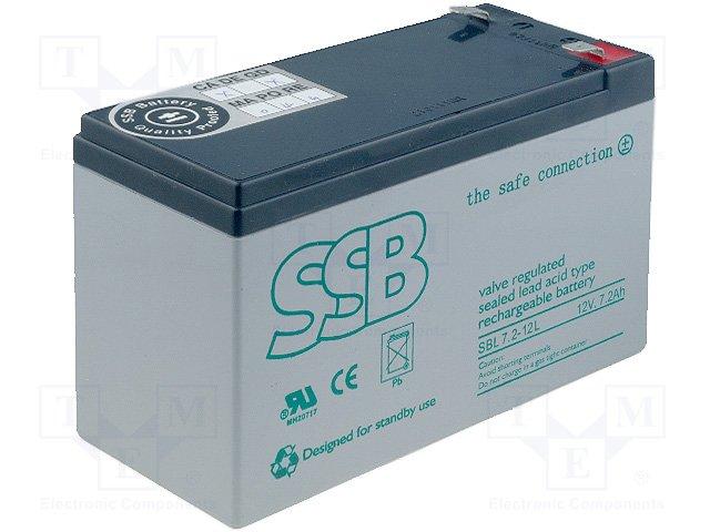 Аккумуляторы кислотные,SSB,SBL 7.2-12L