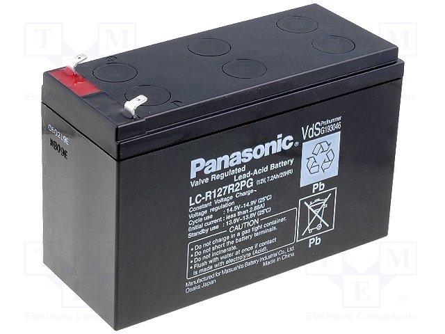 Аккумуляторы кислотные,PANASONIC,LC-R127R2PG