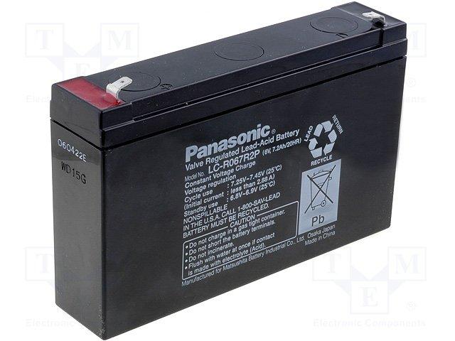 Аккумуляторы кислотные,PANASONIC,LC-R067R2P