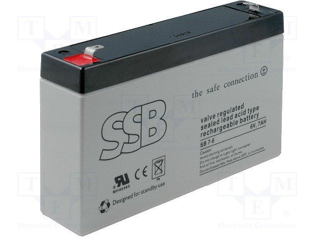 Аккумуляторы кислотные,SSB,SB 7-6