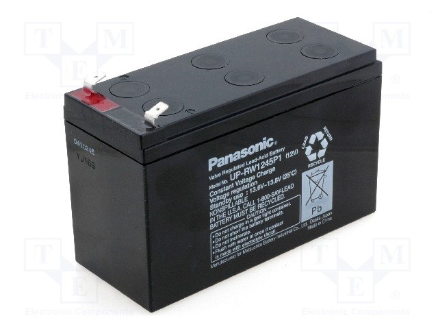 Аккумуляторы кислотные,PANASONIC,UP-VW1245P1