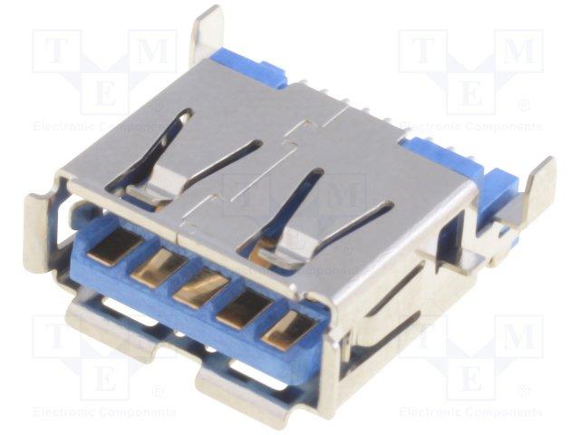 Разъeмы USB и IEEE1394,ADAM TECH,USB-A3-S-RA-SMT