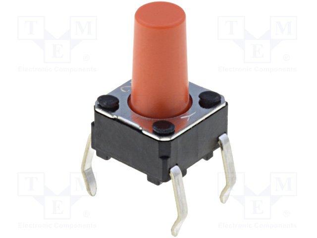 Микропереключатели, TACT PCB,OMRON,B3F-1075