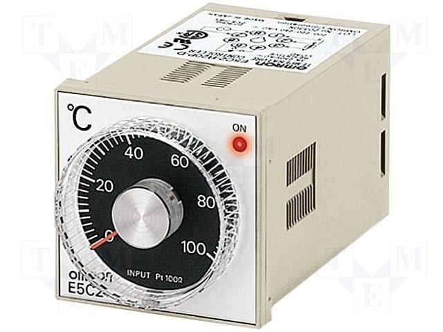 Регуляторы температуры,OMRON,E5C2-R20P-D 100-240AC 0-200
