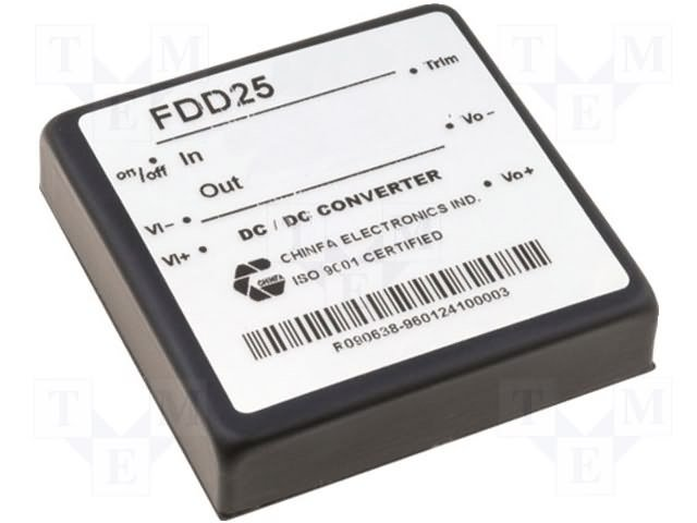 Преобразователи DC/DC,CHINFA ELECTRONICS,FDD25-15S1