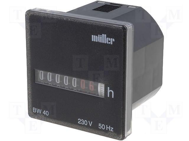 Счетчики рабочего времени,MULLER,BW4018-23050