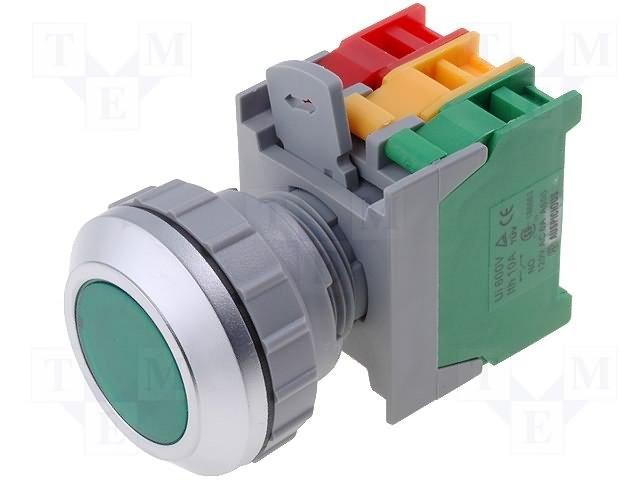 Переключатели панельные стандартные 30мм,AUSPICIOUS,LXB30-1O/C G, W/O LAMP