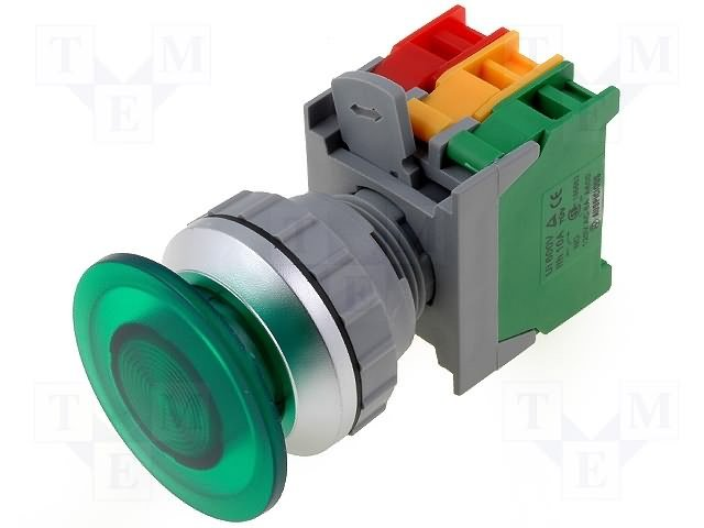 Переключатели панельные стандартные 30мм,AUSPICIOUS,EBL30-1O/C G, W/O LAMP