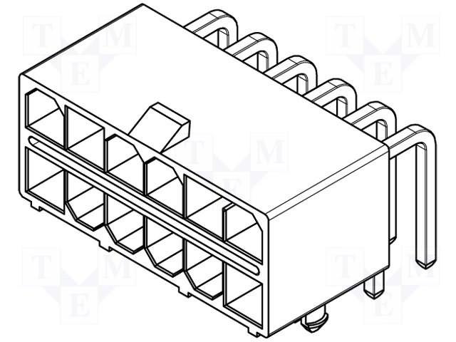 Разъeмы Mini-Fit,MOLEX,15978167 30070-16A1
