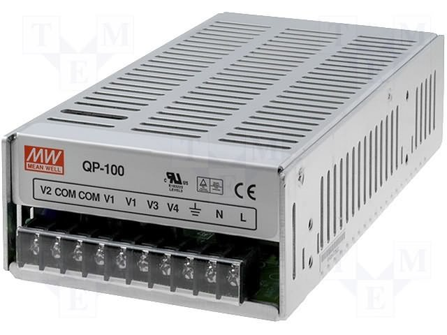 Блоки питания импульсные промышленные,MEAN WELL,QP-100-D