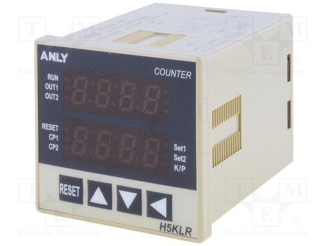 Счетчики импульсов,ANLY ELECTRONICS,H5KLR-8B 12-48 AC/DC