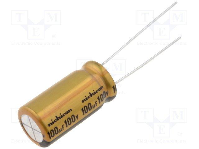 Конденсаторы электролитические THT 85°C,NICHICON,UFW2A101MPD