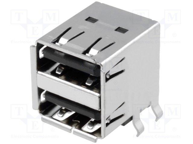 Разъeмы USB и IEEE1394,JST,UBA-4RS-D14T-4D