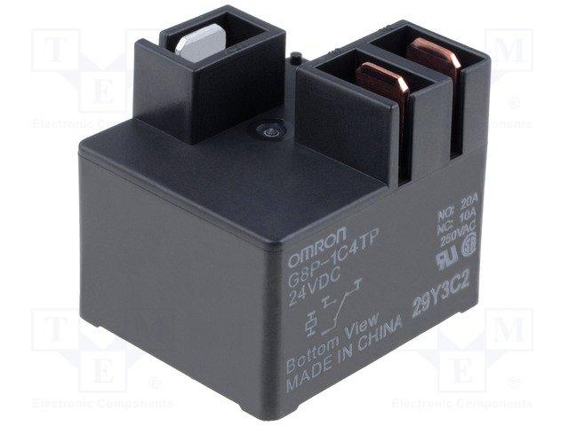 Реле электромагн. высокотоковые,OMRON,G8P-1C4TP 24VDC