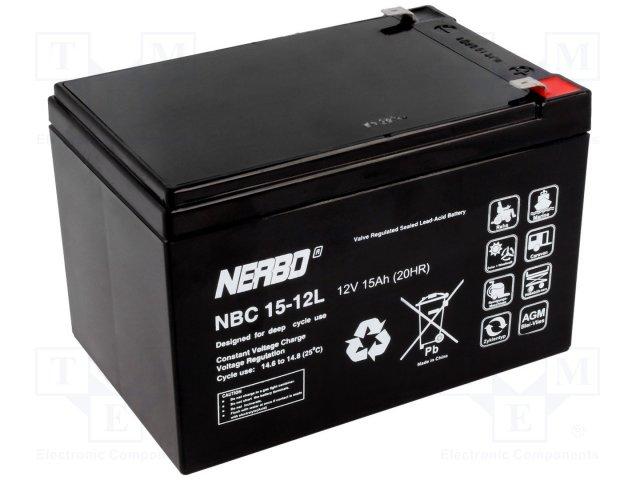 Аккумуляторы кислотные,NERBO,NBC 15-12L