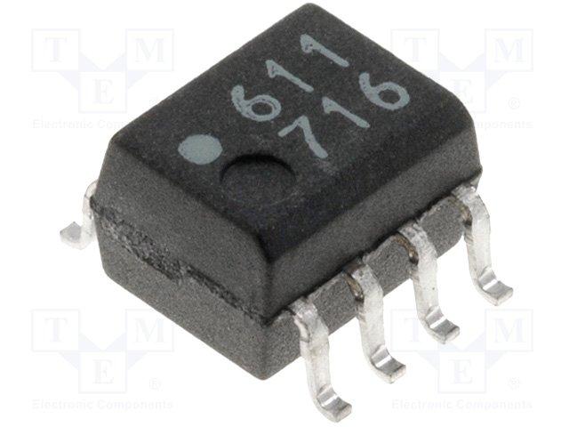 Оптроны логический выход SMD,AVAGO,HCPL-0611-000E