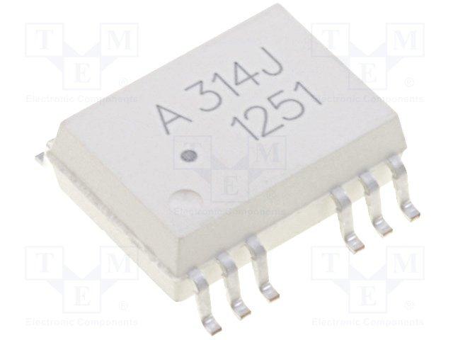 Оптроны транзисторный выход THT,AVAGO,HCPL-314J-000E