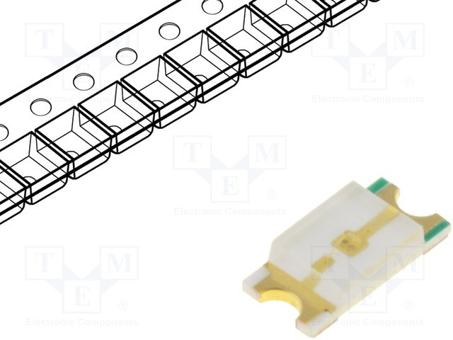 SMD colour LEDs,OPTOFLASH,OF-SMD3216PG
