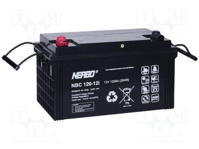 Аккумуляторы кислотные,NERBO,NBC 120-12I