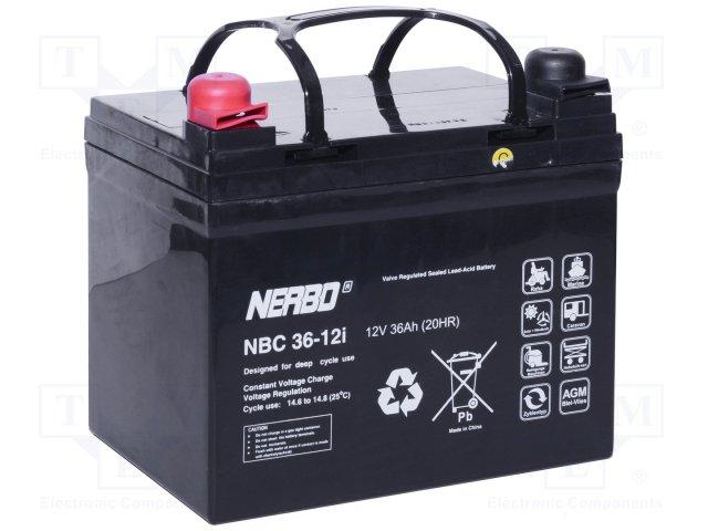 Аккумуляторы кислотные,NERBO,NBC 36-12I