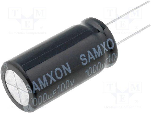 Конденсаторы электролитические THT 105°C,SAMXON,EKM108M2AL35RRSHP