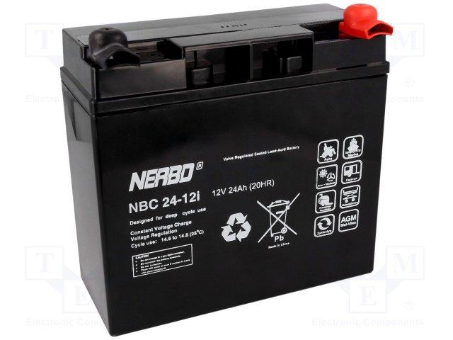 Аккумуляторы кислотные,NERBO,NBC 24-12I