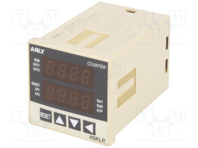 Счетчики импульсов,ANLY ELECTRONICS,H5KLR-8B 100-240V AC/DC