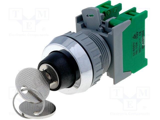 Переключатели панельные стандартные 30мм,AUSPICIOUS,KS30-2/O, 1-0-2 3 POSITION